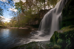 Waterfall (Lee~Harris) Tags: water waterfall flow flowing waterfalls uk england yorkshire beauty love motion longexposure nikon d300 beautiful capture pov light shade shadow sky trees rock rugged landscape cauldronfalls falls nature river stream forest sigma spring 1020mm
