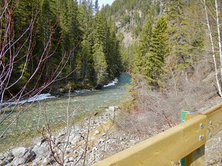 Lussier River from trail to Hot Springs