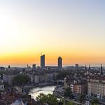 Lyon, France : sunrise from Jardin des Chartreux thumbnail