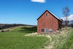 orange barn (Flapweb) Tags: barn vermont spring hinesburg