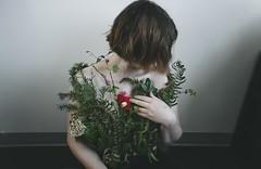Grow Pt 5 (Emily Mayer) Tags: plants grow growth self portrait flowers nature conceptual