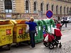 Mother Disposing Her Child to the Waste Container :-) (just kidding) (Kojotisko) Tags: people brno cc creativecommons czechrepublic streetphoto persons fujifilmfinepix fujifilmfinepixsl1000 fujifilmfinepixsl1000kojotisko