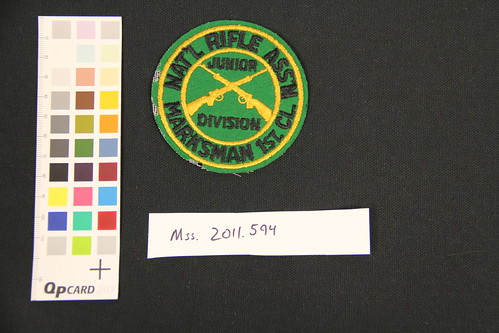 National Rifle Association Patch, circa 1940s (Item 2011.594.1)