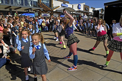 100612.113. Page Mason Dancers.  (THDS120610westwood-6.) (actionsnaps) Tags: costumes dance dancing audience outdoor stage crowd performance teenagers familyfun facepaint spectators schoolgirls schooluniform talentshow broadstairs younggirls publicevent dancegroup birthdaycelebration 5thanniversary talentcontest englandfan tartanskirts westwoodcrossshoppingcentre checkedskirts westwoodsgottalent pagemasonschoolofdanceanddrama pagemasondancers