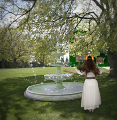 day 126--forbidden fountain (XeniaJoy) Tags: trees water fountain spring oz 365 uofi ozma moscowidaho lfrankbaum 365days magicbelt waterofoblivion emeraldcityofoz forbiddenfountain