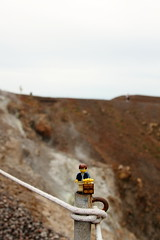 Travels of badger - Nea Kameni Volcano in Santorini (enigmabadger) Tags: sea vacation island greek europe lego fig aegean eu santorini greece minifig custom minifigure brickarms