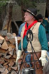 Cowboy, coffee (V. C. Wald) Tags: cowboy yellowstonenationalpark rooseveltlodge
