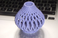3D printed purple vase (www.guyk.fr) Tags: 3d printer parts mini part printed rostock