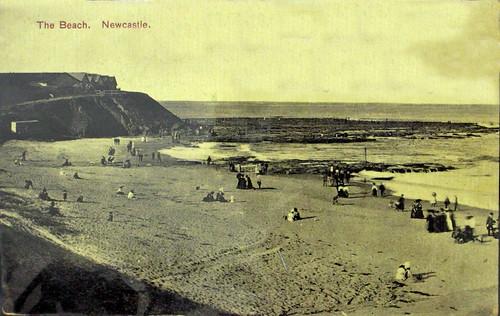 The Beach, Newcastle - circa 1900