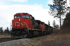 Big Power on the Okanagan Sub (okanaganrailfan) Tags: railroad canada cn train bc okanagan sub rail railway columbia canadian national british larkin