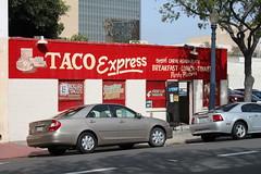 Taco Express (joseph a) Tags: california downtown sandiego storefront taqueria tacoshop