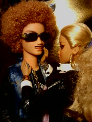 Colette loves Bryant's new mustache (krixxxmonroe) Tags: black beautiful fashion photography dolls ryan d grand scene and arrival bryant ira royalty colette styling my flickrandroidapp:filter=none