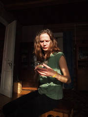 Dig the light! (Roman Okhotnikov) Tags: light portrait girl beauty creativity epl1 olympusepl1