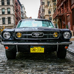 Old School Mustang.  Soho, NYC.