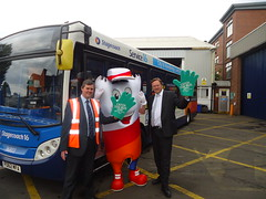 "Stephen Mosley MP visits Chester Stagecoach depot during Catch A Bus Week • <a style=""font-size:0.8em;"" href=""http://www.flickr.com/photos/51035458@N07/14089876484/"" target=""_blank"">View on Flickr</a>"