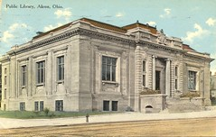 Public Library, Akron, Ohio (Miami U. Libraries - Digital Collections) Tags: buildings libraries ohioakron miamidigitalcollections bowdenpostcardcollection