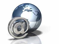 Globe Icon: Email (rulke) Tags: world africa metal computer globe europe technology message tech symbol earth metallic object internet www icon email communication software planet data info hightech information continent isolated http global communicate continents isolate