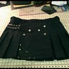 Denim and leather in black going to ND. http://www.altkilt.com/denimleather #altkilt