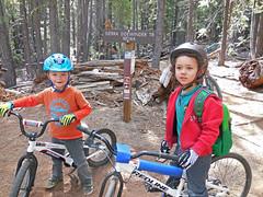 Max and Miles mountain biking (benjaminfish) Tags: mountain bike may tahoe 2014