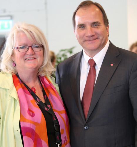 Carina Ohlsson och Stefan Löfven