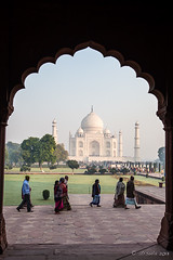 Scalloped View 7899 (Ursula in Aus - Away Travelling) Tags: india architecture arch tajmahal arches unesco archi earthasia