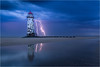 Point of Ayr Lightening Storm (Chris Beard - Images) Tags: uk lighthouse storm beach wales night clouds landscape coast sand may lightening talacrebeach pointofayrlighthouse