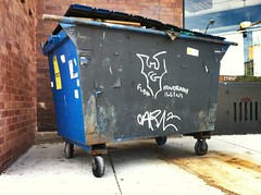TEX GOTH x CANCER CARL (billy craven) Tags: chicago dumpster graffiti date handstyles cancercarl texgoth flbh
