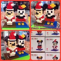 "✨NANO LEGO LOZ L กล่องเหลี่ยม✨ เลโก้จิ๋ว แบบ ประกอบเอง ขนาดสูง 4"" ชิ้นส่วน มากกว่า 100 ชิ้น ตัว ใหญ่ มิกกี้ มินนี่ เลิอกลายได้ ราคาตัวละ 130฿ คู่ละ 190฿ พร้อมส่ง +50฿ EMS  #sweetlovermakeup #nano #lego #mickey#minnie#steve#job#toys #model  ขายส่งทักมา  #s"