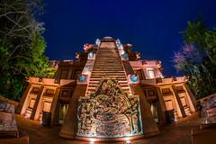 Mexico Grande (Tyler Bliss) Tags: park blue sky night facade dark epcot nikon disney tequila countries pavilion wdw waltdisneyworld attraction worldshowcase mexio tylerbliss