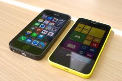Nokia Lumia 630 with iPhone 5S