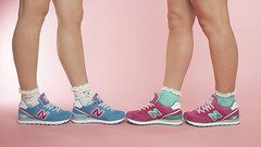 New Balance (Apple Green Amy) Tags: pink ladies cute fashion socks retail female canon studio photography shoes womens trainers professional footwear mk2 5d product schuh newbalance womenswear