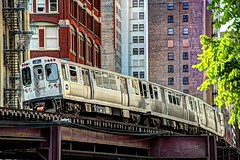 Chicago - CTA Harrison & Wabash L Train (David Pirmann) Tags: chicago train subway cta transit elevated rapidtransit
