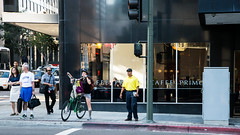 Crossing with the tall bike (neilw12) Tags: losangeles nikon streetphotography downtownla share centralcity d800e