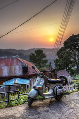 Scooter (Parveen Singh) Tags: travel family trees sunset people playing mountains cold beautiful station fog canon buildings children evening shimla flickr heaven sitting hill scooter excited tourist resting far hdr 550d