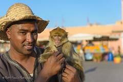 Monkey Handler (MFranksPhoto) Tags: street longexposure horses horse orange holiday fruit square monkey nikon market morroco busy ape marrakech souk performers stalls snakecharmer d600 caleche jemmaelfna leefilters
