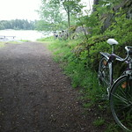 Bike before Vartiosaari island crossing point thumbnail