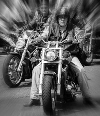 Easyrider (norrisphysio) Tags: carnival sun man bike wheel cheshire chrome motorcycle trike congleton