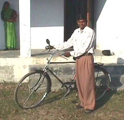 Gurudayal with new cycle