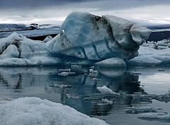 Iceberg Reflections (joeng) Tags: sky mountain snow reflection water clouds iceland olympus glacier iceberg omd em1 glacierlagoon jokusarlon