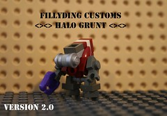 Lego grunt 2.0 (Keaton FillyDing) Tags: brick lego space alien halo elite reach custom grunt brute brickarms brickforge fillyding