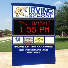 Grayscale LED Sign | Irving MS