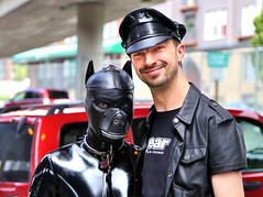 A Boy and His Dog (#3) (sea turtle) Tags: seattle gay dog leather leatherman downtown mask pride bdsm parade prideparade lgbt gaypride queer seattlecenter 4thavenue gayprideparade gayparade seattlepride seattlegayprideparade seattlegaypride leathermen lgbtq gayseattle
