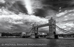 Tower Bridge B&W (Michael Pancier Photography) Tags: uk greatbritain travel vacation england london towerbridge unitedkingdom gb thamesriver travelphotography commercialphotography naturephotographer michaelpancierphotography landscapephotographer fineartphotographer michaelapancier wwwmichaelpancierphotographycom summer2014