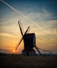 Stevington sunset (grbush) Tags: sunset sun windmill bedfordshire postmill stevington stevingtonwindmill grantbush dt30mmf28macrosam sonyslta77