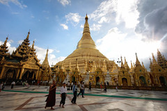 Shwedagon (Topoki) Tags: travel color colour building heritage tourism motif architecture temple design pagoda daylight shrine colorful asia day pattern cloudy outdoor space shwedagon yangon burma religion culture vivid buddhism myanmar colourful southeast paya maha copy pilgrimage rangoon pagode destinations pickbykc wizaya