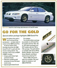 2000 Pontiac Grand Prix GTP Gold Edition (coconv) Tags: pictures auto door old 2 white classic cars car sedan vintage magazine ads advertising cards gold photo flyer automobile 2000 post image photos antique postcard 4 ad picture grand images special advertisement prix vehicles photographs card photograph postcards vehicle pontiac autos collectible gt collectors edition brochure package coupe 00 automobiles gtp dealer supercharged prestige