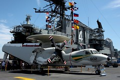 AWACS on CV-41 USS Midway (Prayitno / Thank you for (10 millions +) views) Tags: california ca eye museum warning early san control hawk air diego system hawkeye midway airborne uss carrier cv 41 e2 awacs cv41 aircarrier konomark