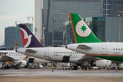 Air Macau A319 B-MAL + EVA A321 B-16211 (altinomh) Tags: macau macauairport