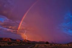 For All Time (Steven Maguire Photography) Tags: sunset arizona skyscape landscape rainbow monsoon thunderstorm lightning santacruzcounty azwmonsoon2014