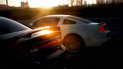 Shelby GT500 & Charger (RaY29rus) Tags: sunset panorama car muscle australia mount bathurst